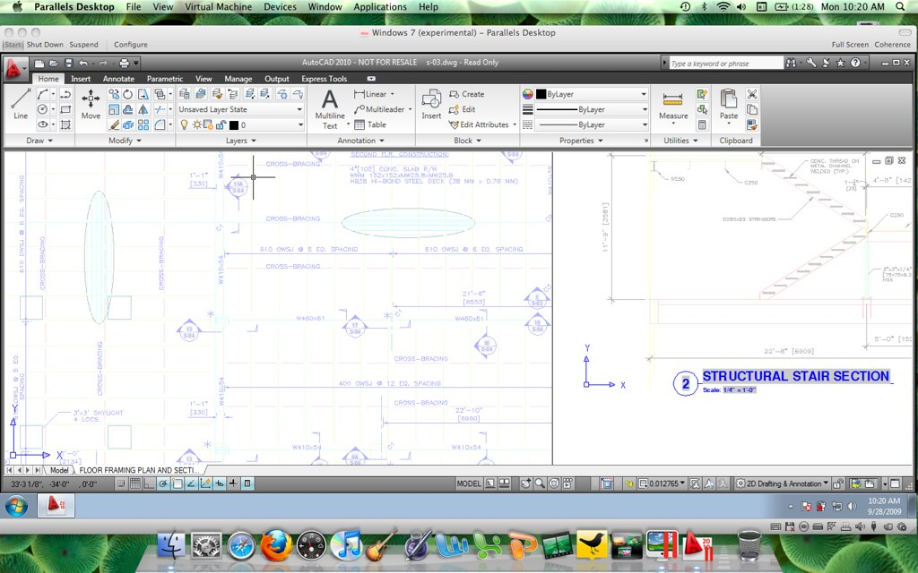AutoCAD 2010 On Windows 7 With Parallels Apple Mac OSX 10