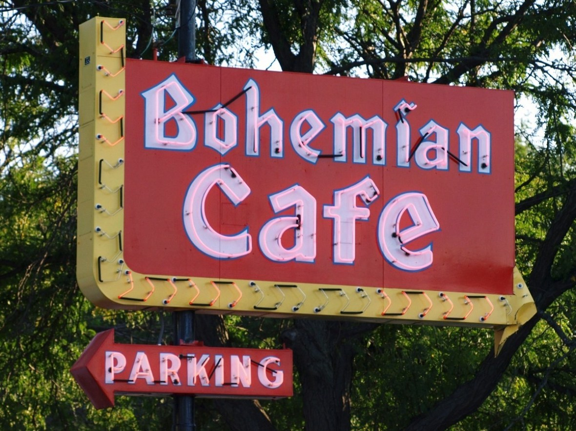 Bohemian Cafe - 1406 South 13th Street, Omaha, Nebraska U.S.A. - August 27, 2009
