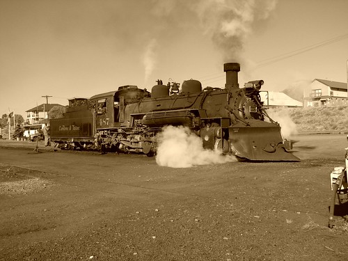8562a Cumbres & Toltec #487 Reversing to Train