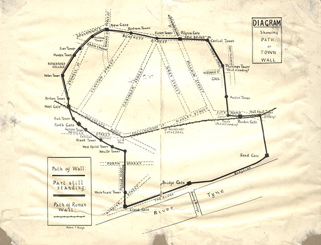 009121:Diagram showing path of the Town Wall Newcastle upo… | Flickr