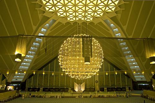 Interior Of Faisal Mosque Aamir Rashid Flickr