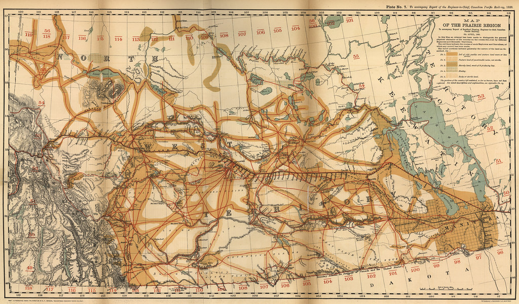 Map of the Prairie Region  1880    Fleming  Sandford  Map of      Flickr     Map of the Prairie Region  1880    by Manitoba Historical Maps