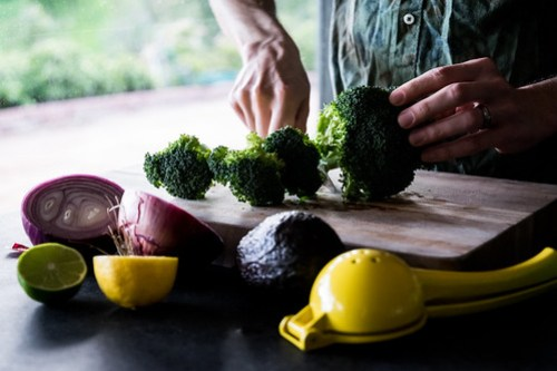 for even cooking, cut the broccoli into florets first