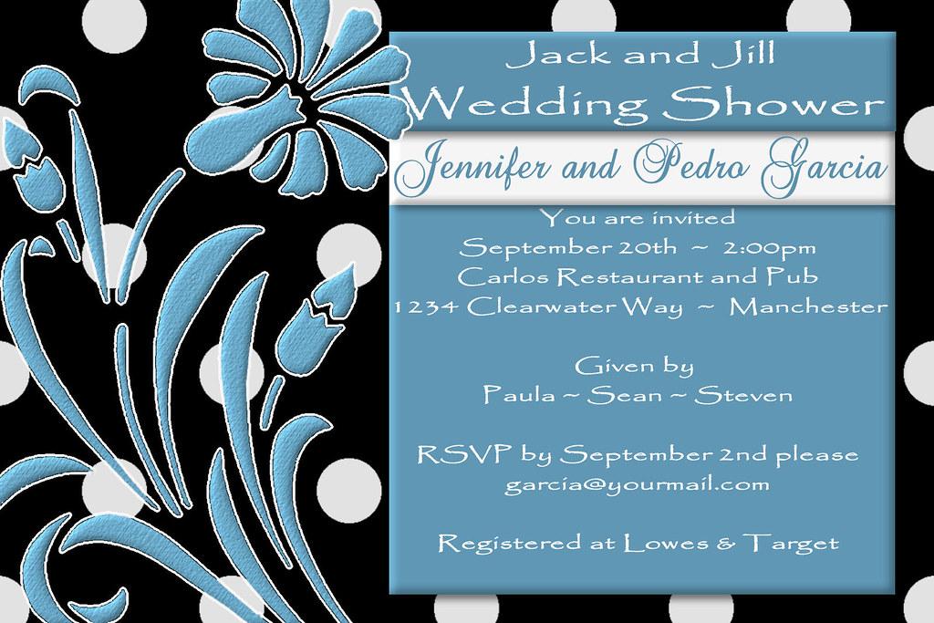 C64 JACK AND JILL Black Shower Invitation Blue White Polk Flickr