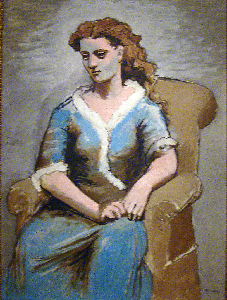 Woman Seated In Armchair 1923 Pablo Picasso Spanish