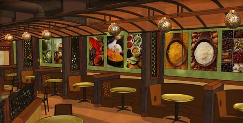 Restaurant Interior Design 3D Restaurant Rendering The
