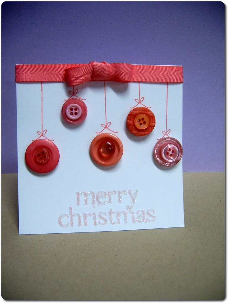 Button Christmas Card To Make My Card I Used PTIs