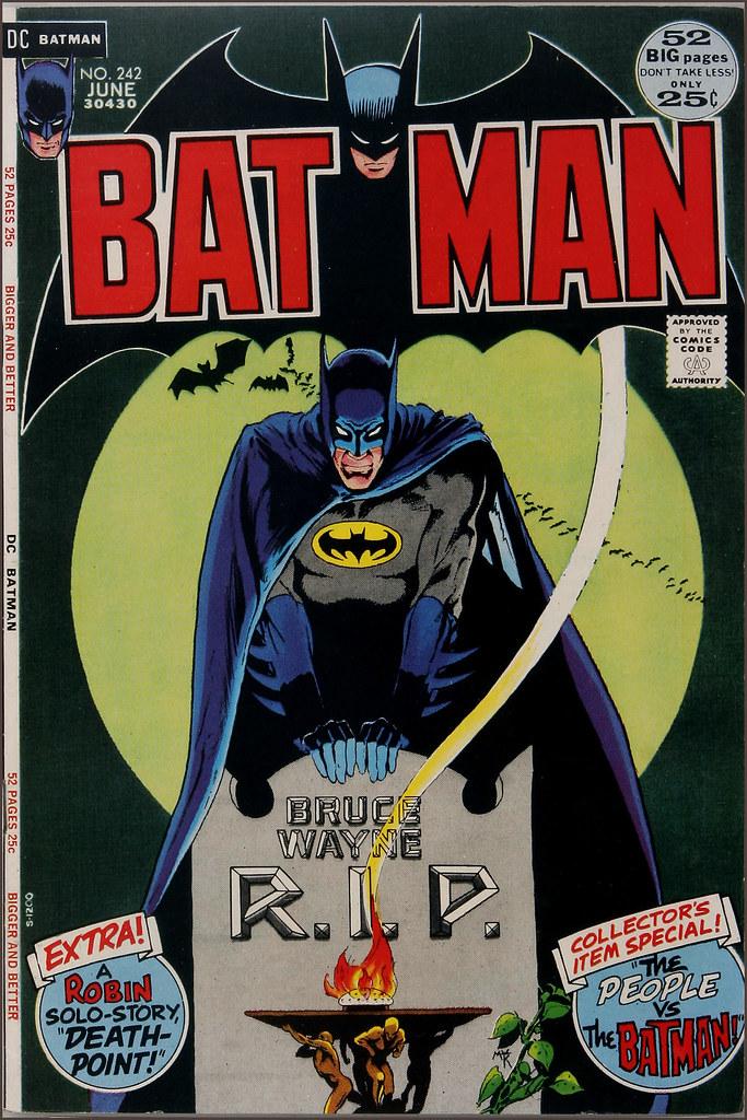 Batman 242 June 1972 Cover Art By Michael Kaluta