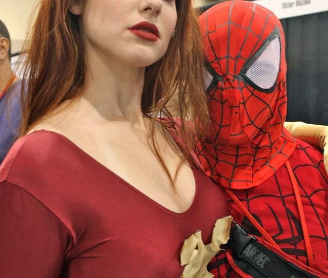 Phoenix Comicon  Lauren Klein As Dark Phoenix With Spiderman By Kevin Dooley