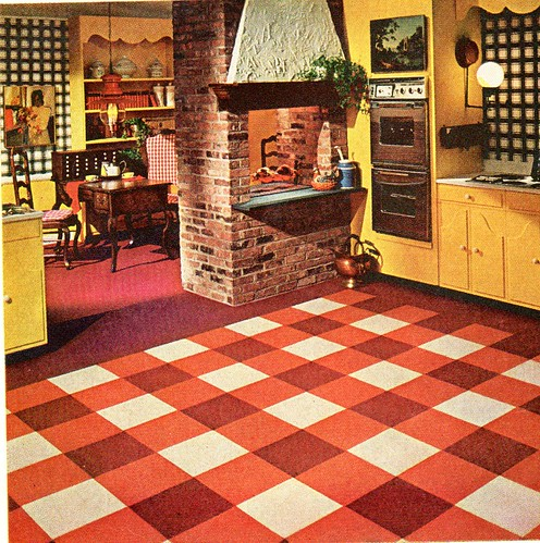 1967 Ozite Carpet Tiles Kitchen Sportsuburban