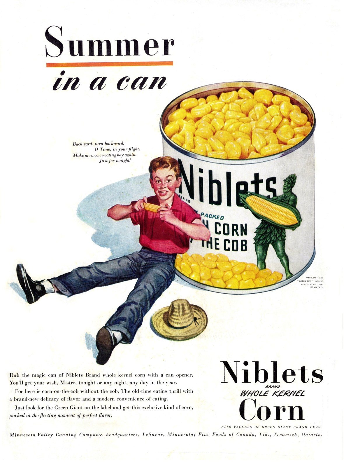 Green Giant Niblets Corn - published in Life - July 1947