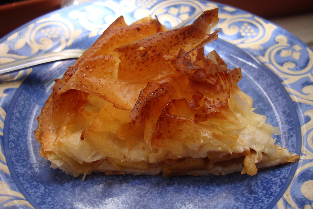 Pastis Gascon Caramel Apple Pastry Made With Phyllo Dough
