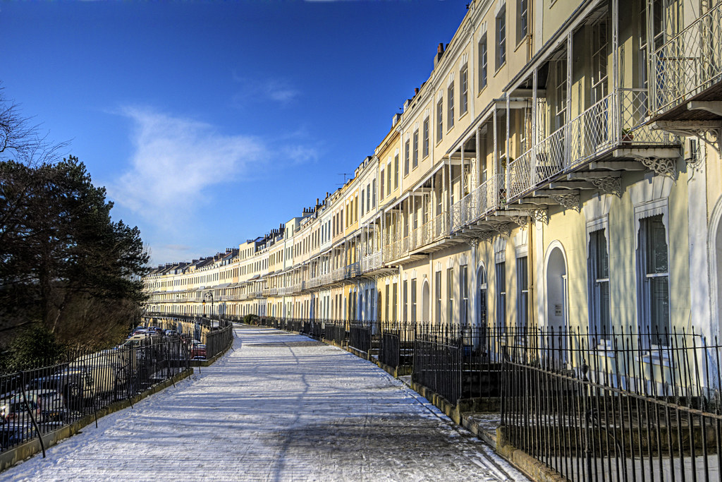 Snow On The Royal York Crescent In Clifton Bristol Flickr