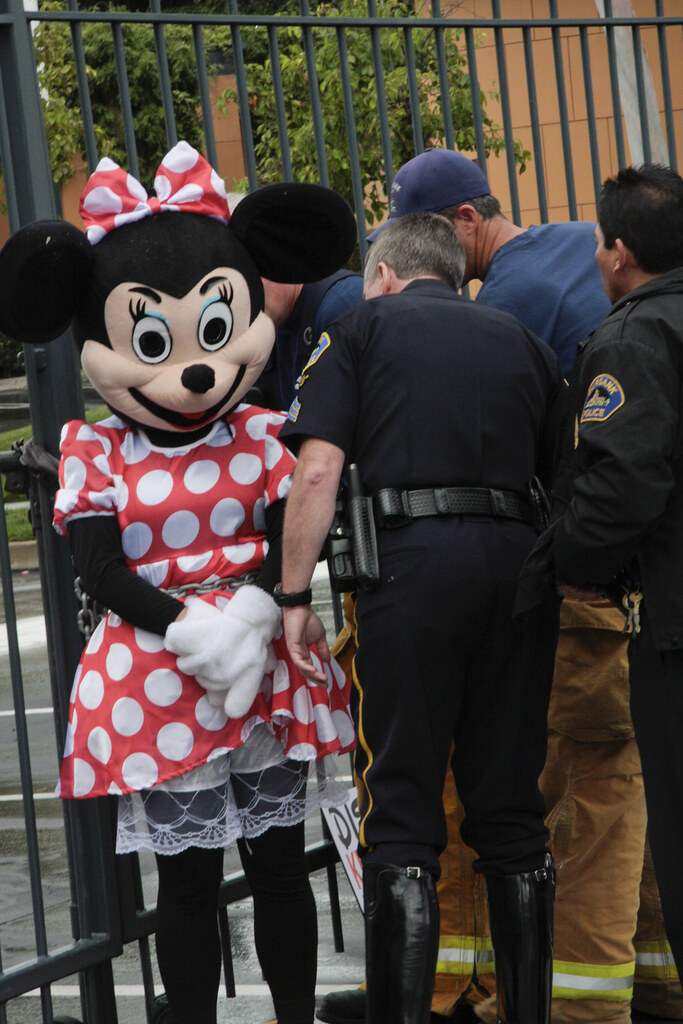 Minnie Mouse Arrested While Protesting Disney Rainforest D