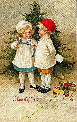 Vintage Christmas Postcard Free To Use In Your Art Only