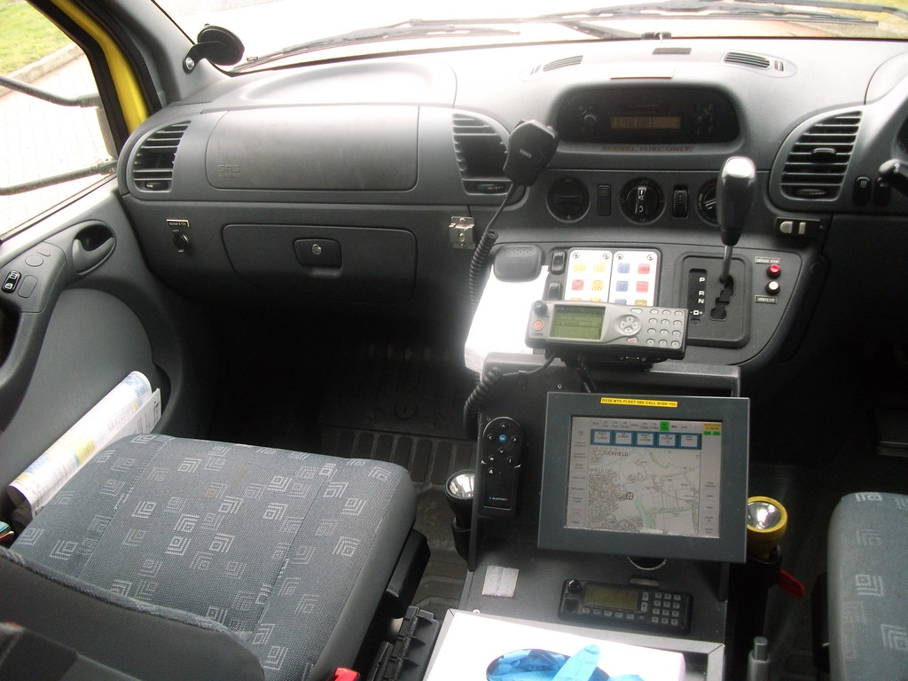 Inside The Cab Of RX56MTK Mercedes Benz Sprinter Ambulance