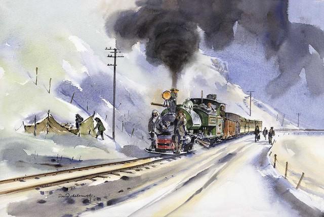 India Darjeeling Railway 1948 In Snow Support The Rai