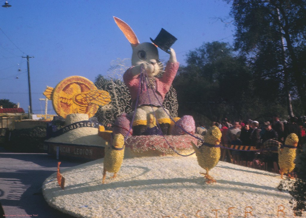 Easter Float 1947 Tournament Of Roses Parade The