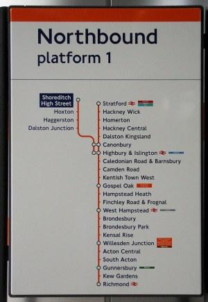 Shoreditch High Street Overground station | Modern line diag… | Flickr