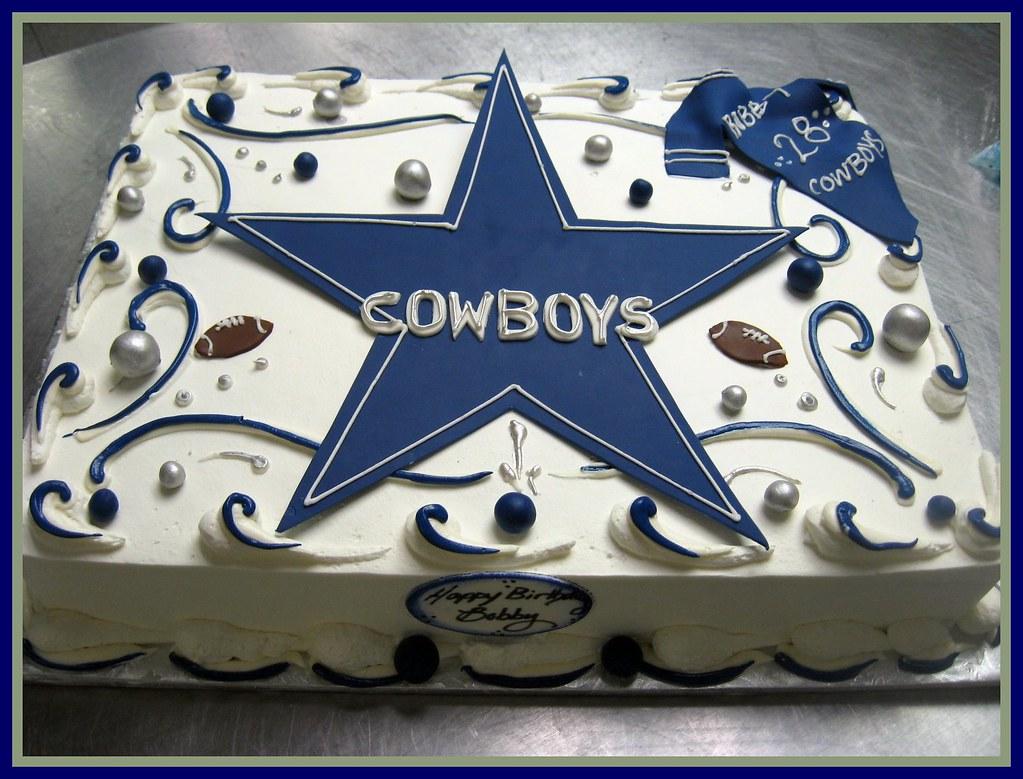 Bobby S Dallas Cowboy Sheet Cake Bc Iced With Fondant