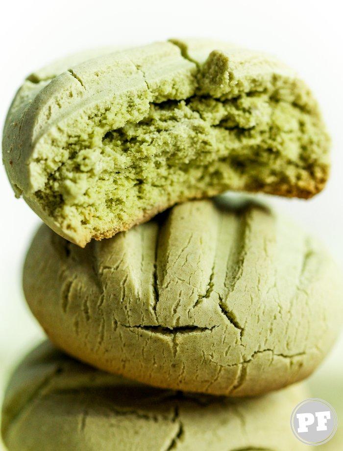 Biscoitinho de Leite Condensado e Matcha (Chá Verde) por PratoFundo.com