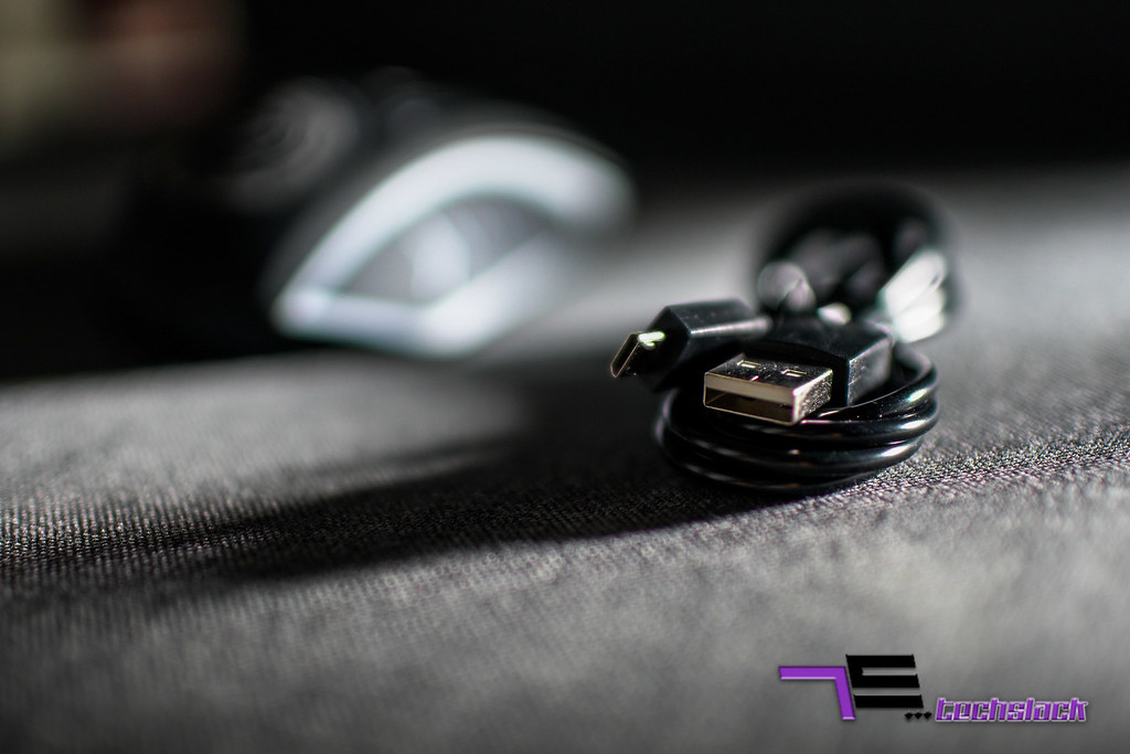 The Air Trek 1000 comes with a micro usb cable that is only for charging purposes.
