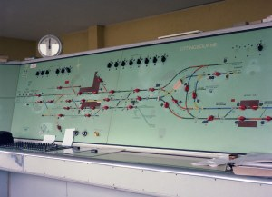 Sittingbourne Signal Box panel | This is the track diagram