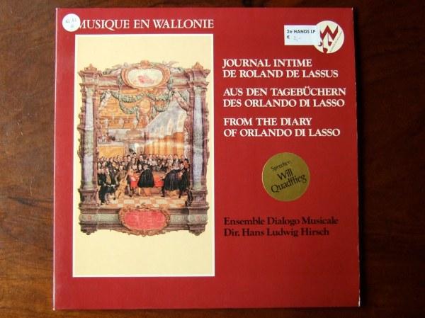 Musique En Wallonie - From The Diary Of Orlando Di Lasso ...