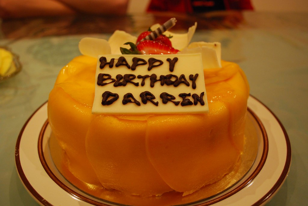 Happy Birthday Darren Mango Sponge Cake Cake World