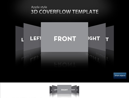 3D Coverflow Template High Resolution Apple Style Coverflo Flickr