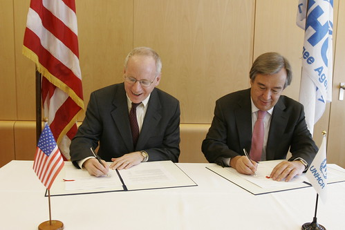 U.S. and UNHCR Sign Framework Agreement - 2009 | Sam ...