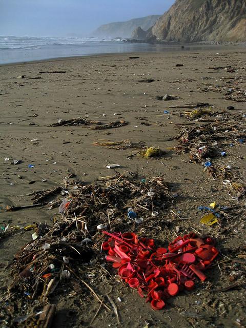Plastic Heart Kehoe Beach Photo Taken On Valentines