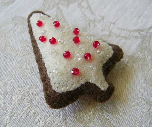 Gingerbread Christmas Tree Felt Cookie Ornament This Is