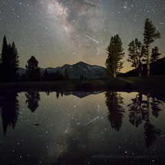 Delta Aquarid Meteor, Tioga Pass, Yosemite