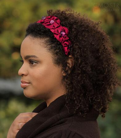 Curly Hair Accessories Headband Pink Satin Handmade Flickr