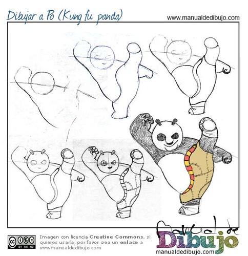 Dibujar Po Kung Fu Panda Ms Tutoriales De Dibujo En Www