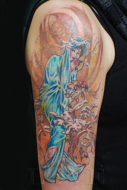 Mucha Tattoo Mez Love Flickr