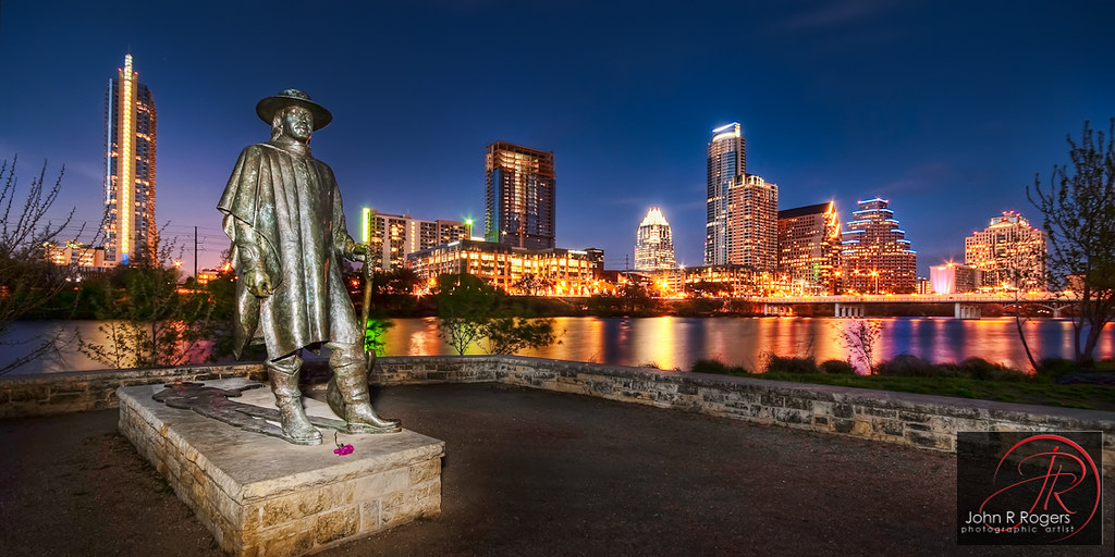 Stevie Ray Vaughan Austin Skyline Sunset Since You Are