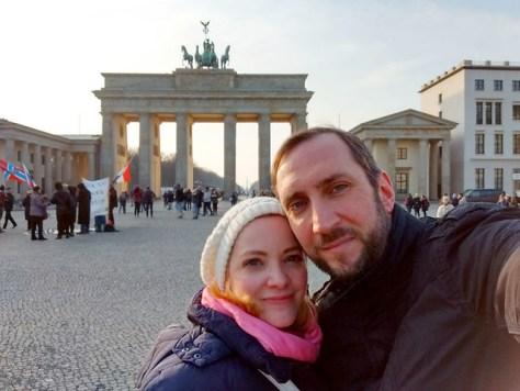 Besuch beim Brandenburger Tor