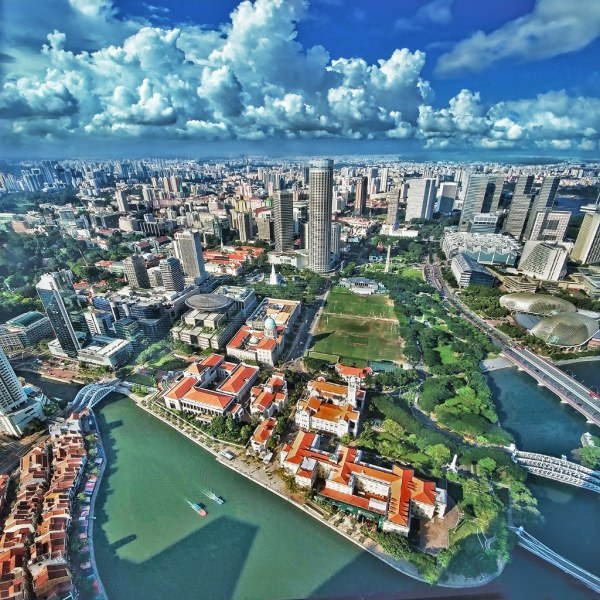 Aerial View of the City from 60th floor of UOB Plaza 1 – S ...