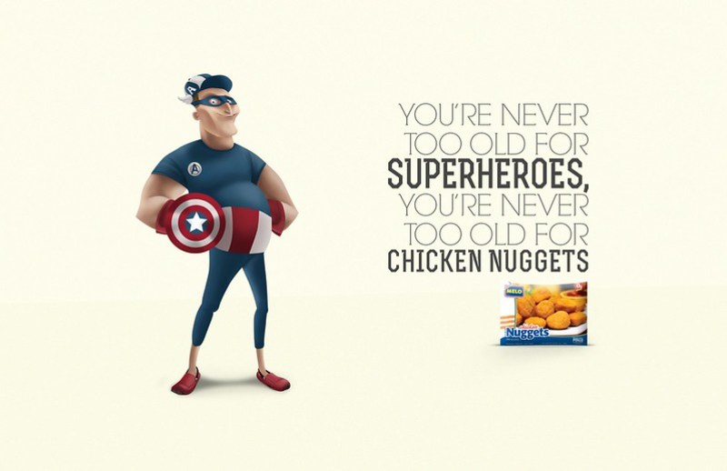 Melo Nuggets - Superheroes Captain America
