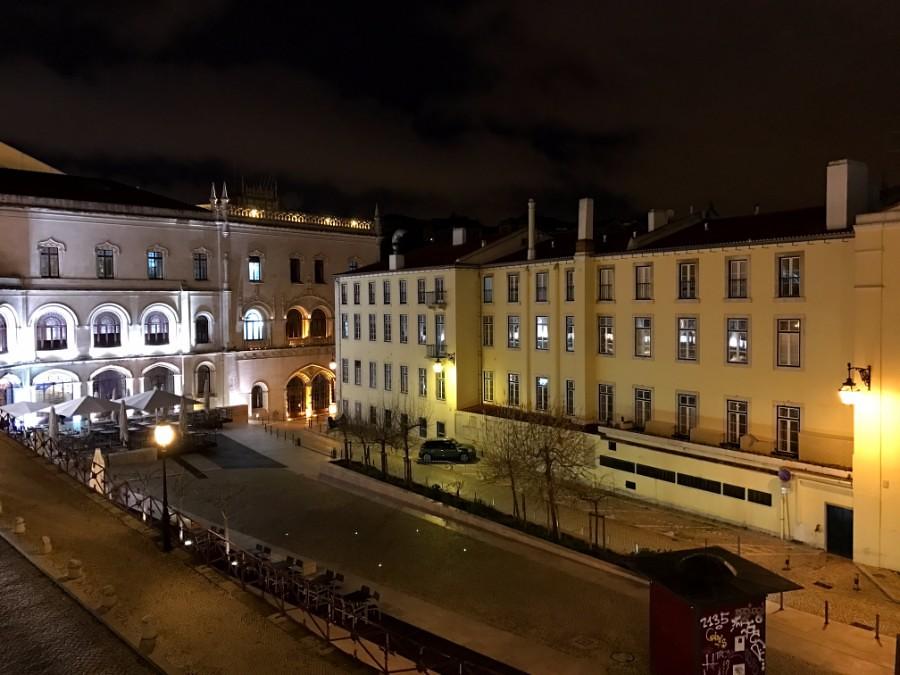 beautiful night image of lisbon