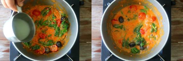 spinach tomato pasta 5