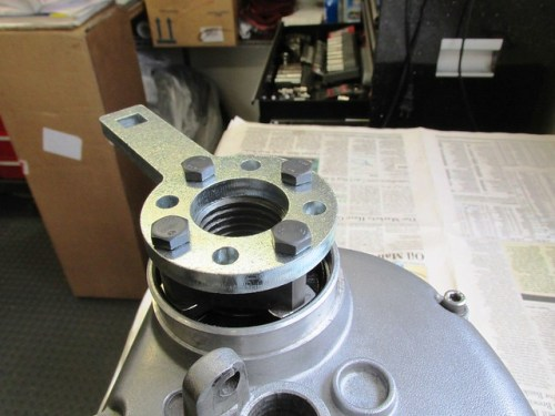 Cycle Works Puller Plate Bolted to Output Flange
