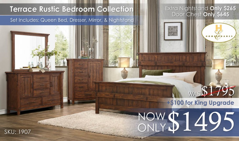 Terrace Bedroom Collection Homelegance 1907