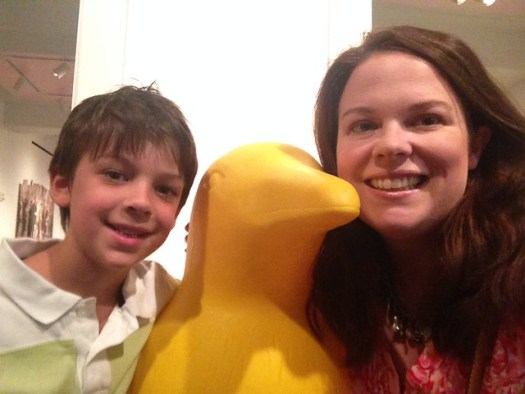 Shugie and Me and Yellow Penguin, 21c Museum Hotel, Cincinnati OH