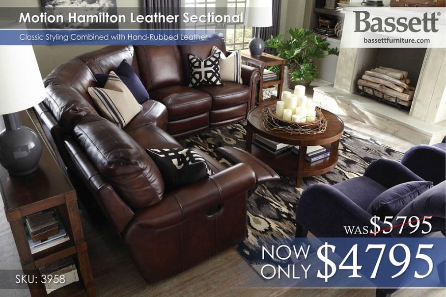 3958-Motion Hamilton Sectional Reg $5,795 now $4,795