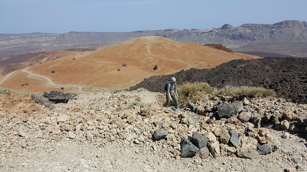 slowly hiking mount teide