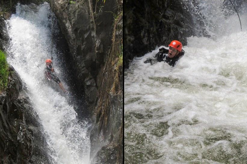 bestig et vandfald i Dalat, Vietnam
