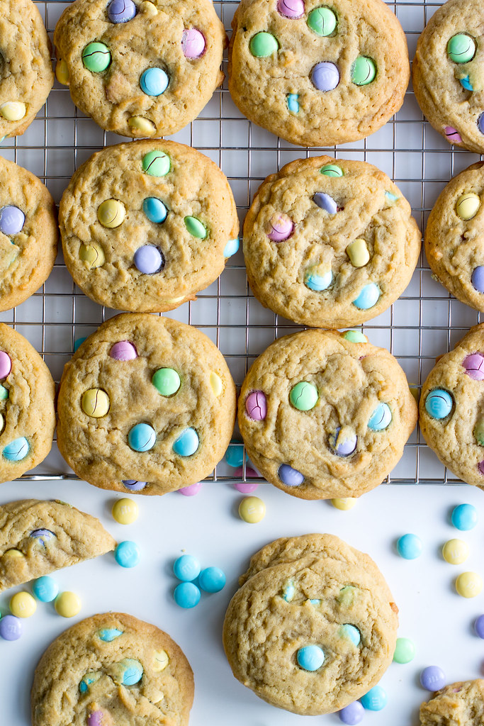 Classic pudding M&M cookies are soft, chewy, and oh-so-cheerful!